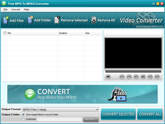 Free MPG to MPEG Converter