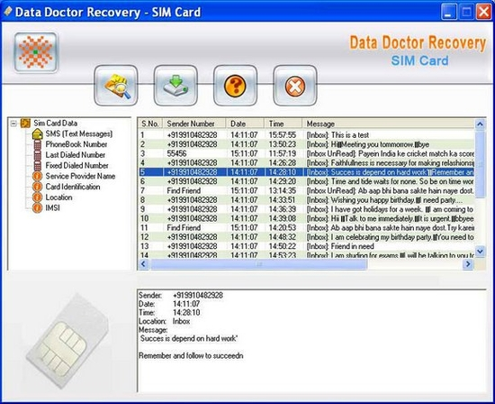 Mobile Simcard Data Recovery