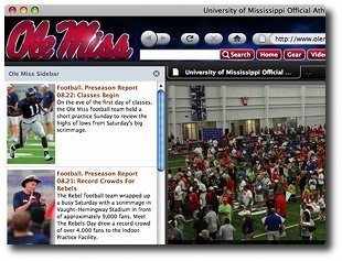 Ole Miss Internet Explorer Browser Theme