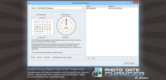 Photo Date Changer for Windows
