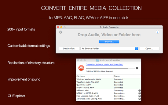 To Audio Converter Free for Mac