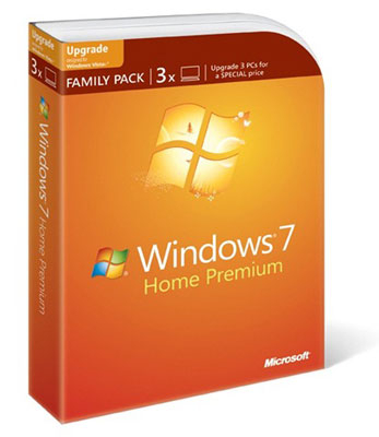 Windows 7 Home Upgrade Family Pack 3 Usr