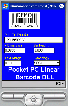 Download Pocket PC Linear Barcode DLL