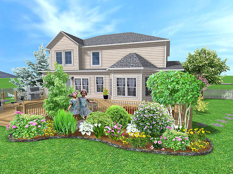 How To Landscape Around A New House : Landina easy to simple landscaping ideas around house