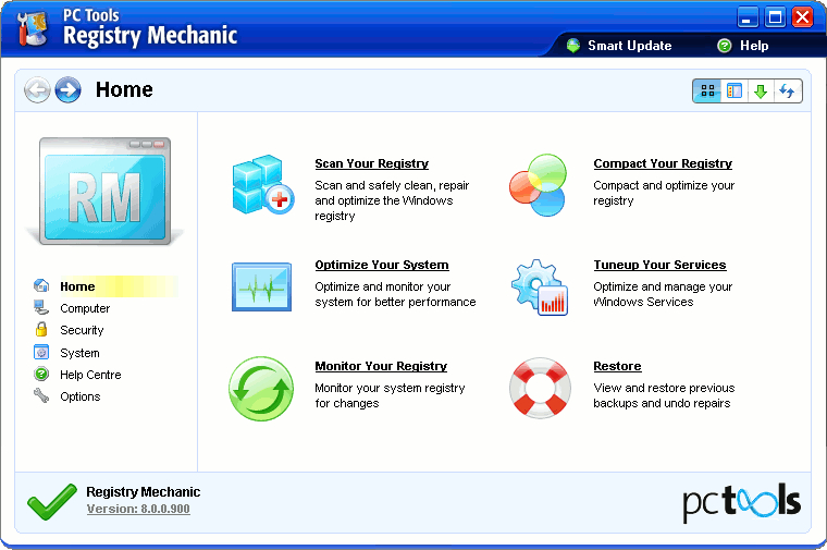 Registry Mechanic you can safely clean, repair and optimize the