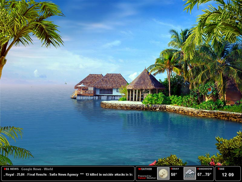 Tropical Island Beach Ambience Sound: Download Tropical Dream Screensaver