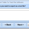 MySQL Export Table To Text File Software